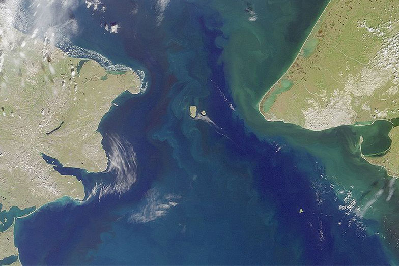 Satellite picture of Bering strait